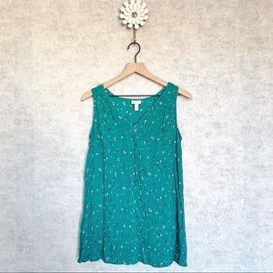 Isabel maternity | green floral tank top. Sz S